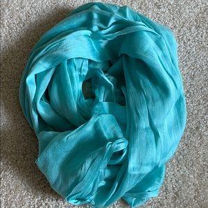 Aqua silky Infiniti scarf